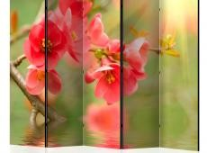 Paraván - Azalea reflected in the water II [Room Dividers]